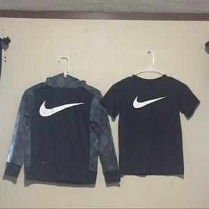 Youth sweatshirt and shirt